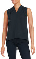 T Tahari Sleeveless Hi-Lo Blouse