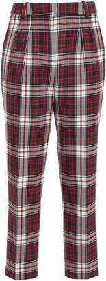 Claudie Pierlot Parcoeur Checked Woven Tapered Pants