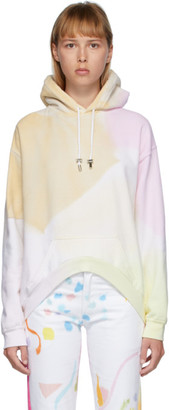 Collina Strada Multicolor Rounded Hem Hoodie