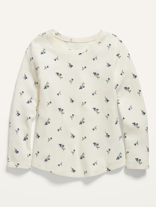 Old Navy Printed Thermal Scoop-Neck Tee for Toddler Girls