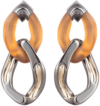 Alexis Bittar Two Tone Double Link Post Earring