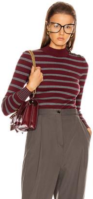 Stella McCartney Sailor Sweater in Burgundy & Grey   FWRD
