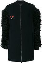 Drome zipped coat - women - Leather/Viscose/PBT Elite - M