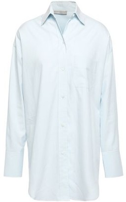 Vince Cotton And Silk-blend Twill Shirt