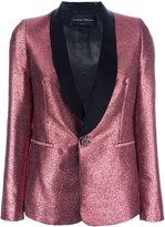 Christian Pellizzari glittery shawl lapel blazer