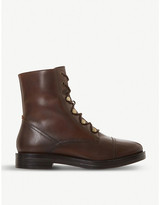 Bertie Peplume lace-up leather boots