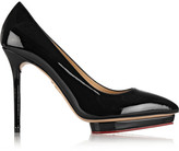 Charlotte Olympia Debbie Patent-leather Pumps - Black