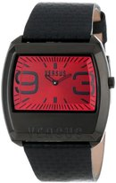 Versus By Versace Men's 3C61000000 Angle Black Ion-Plated Coated Stainless Steel Rectangular Leather Watch