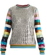 Mary Katrantzou Magpie sequin-embellished crew-neck sweatshirt