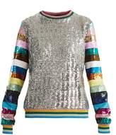 Mary Katrantzou Magpie sequin-embellished crew-neck sweatshirt