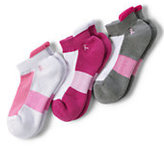 Classic Women's Active No-Show Socks (3-pack)-Pink Thread Paisley