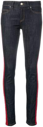 RED Valentino striped trim skinny jeans