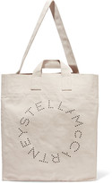 Stella McCartney Printed Cotton-canvas Tote - Cream