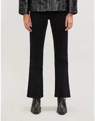 Selfridges Slvrlake Crystal straight-leg high-rise jeans