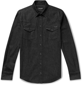 Dolce & Gabbana Slim-Fit Denim Western Shirt - Men