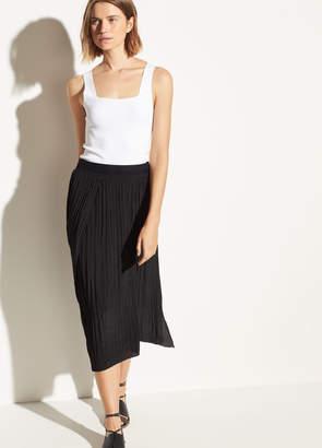 Crinkle Pleat Skirt