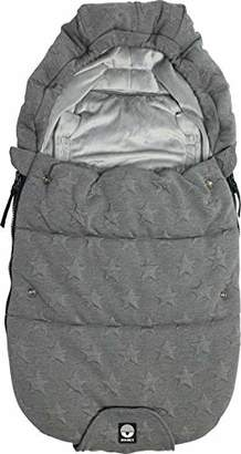 The Original Dooky 126203 Knitted Stroller Footmuff - Small - Grey with Embossed Stars