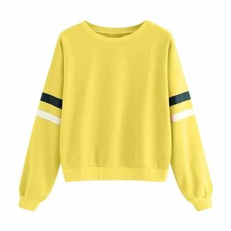 Rikay Women Sweatshirt Rikay Rainbow Stripe Print Womens Sweatshirt Crew Neck Long Sleeve Sweatshirts Pullover Tops Jacket Blouse Shirt Jumper (XL