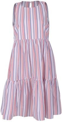 MDS Stripes Strapless Striped Dress