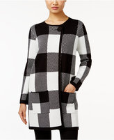 Alfani Plaid Sweater Coat, Only at Macy's