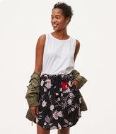 LOFT Botanical Tie Waist Button Skirt