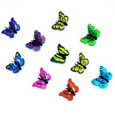 Luoke Technology Luoke Toy Mini Butterflies Action Figure 3d Butterfly Wall Stickers Decals Durable Plastic Butterfly Decorations