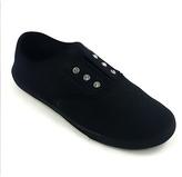 Black Rhinestone Eyelet Slip-On Sneaker