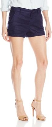 Level 99 Women's Rolled Hem Trouser Short with Button Closure