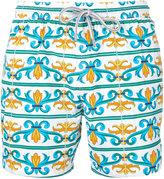 Capricode - baroque print swim shorts - men - Polyamide - M