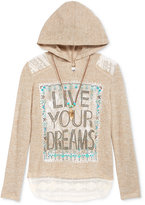 Beautees Layered Look Hoodie & Necklace Set, Big Girls (7-16)