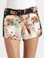 10 Crosby Derek Lam Printed Silk Shorts