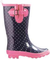 Joe Fresh Kid Girls' Belted Rain Boots, Navy (Size 5)