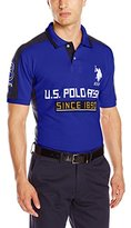 U.S. Polo Assn. Men's Short Sleeve Multi Logo Pique Polo Shirt