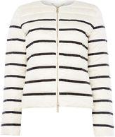 Marella MERINGA lightweight padded striped coat