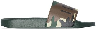 DSQUARED2 Icon camouflage-print slides