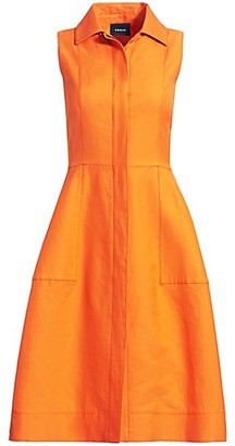 Akris Sleeveless Cotton & Silk Shirtdress