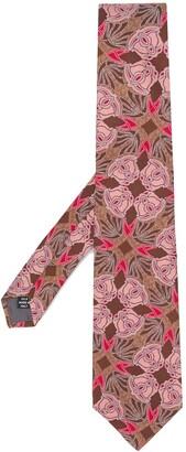 Gianfranco Ferré Pre Owned 1990s Rose Jacquard Tie