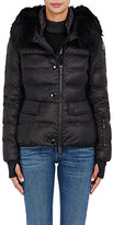 Moncler Women's Armonique Fur-Trimmed Down-Filled Puffer Jacket-BLACK