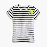 J.Crew Girls' striped embellished sparkle-flower T-shirt