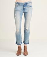 True Religion Blue Dream Destroyed Cora Mid-Rise Straight-Leg Crop Jeans