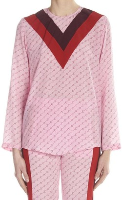 Stella McCartney Logo Printed Blouse