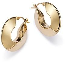 Bloomingdale's Knife Edge Small Hoop Earrings in 14K Yellow Gold - 100% Exclusive