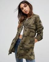 Pieces Camo Long Lightweight Jacket