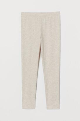 H&M Cotton Leggings - Gray