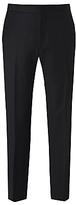 Richard James Mayfair Hopsack Wool Dress Suit Trousers, Black