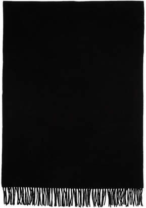 Études Black Wool Magnolia Scarf