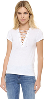 Pam & Gela Lace Up Tee