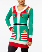 Hooked Up by IOT Juniors' Elf Holiday Tunic Sweater
