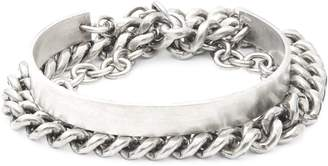The Monotype Large Curb & Round Cable Cuff Bracelet