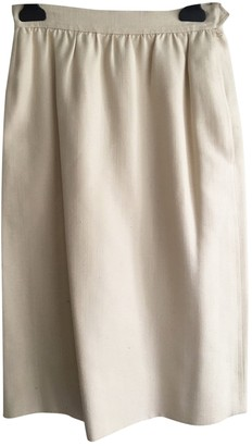 Saint Laurent Ecru Silk Skirt for Women Vintage